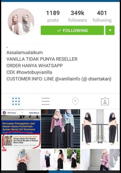 cara onlineshop instagram